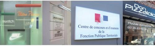 Enseignes lumineuses ''Lettres de façade''
