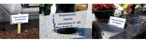 Plaques de concession