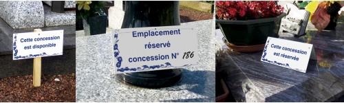 Fixations des plaques de concessions